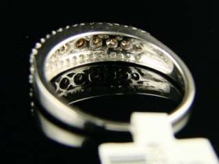 CT 10K LADIES CHOCOLATE DIAMOND BAND RING .50 CT