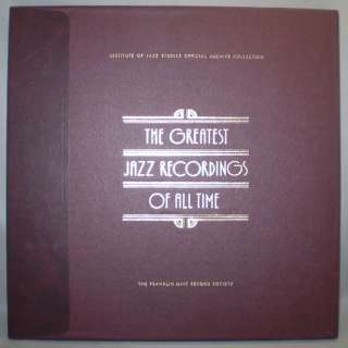 FRANKLIN MINT JAZZ GREATEST RECORDINGS 5 8 4 LP BOX