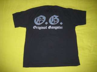 1991 ICE T ORIGINAL GANGSTER T SHIRT vtg rap hip hop OG