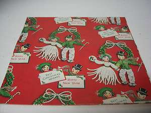 Old Christmas Gift Wrapping Paper   YARN BOY & GIRL