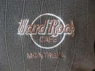 Mend HARD ROCK CAFE Montreal Canada Sewn Logo Long Sleeve Polo Shirt L