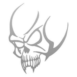 Helmet Decal Sticker Alien Demon Skull Car Window ZE538