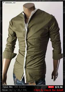 DOUBLJU Mens Casual Best Dress Shirts Collection 2