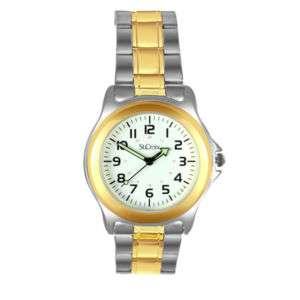 St. Croix Mens Two tone White Dial Quartz Watch