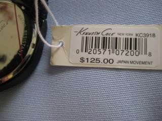 KENNETH COLE MEN NIB $125 Large Watch Analog Date Stainless w Blue
