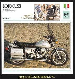 1974 MOTO GUZZI V 1000 Convert MOTORCYCLE Picture CARD