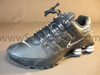 Nike Shox NZ Black Grey Leather Womens 314561 015 Turbo R4 New Sz 7.5