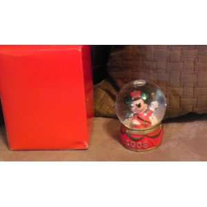 Disney Mickey Mouse 2008 Christmas Snowglobe from JC