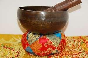HAND HAMMERED TIBETAN SINGING BOWL GREAT LONG LASTING RESONATE SOUND 6