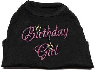 Dog Pet Puppy Birthday Girl Rhinestone T Shirt Apparel