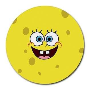 Round Mousepad of Spongebob Squarepants Face (Sponge Bob Square Pants
