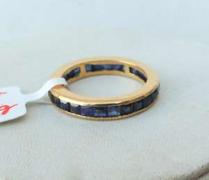 Fabulous 14 K yellow Gold Blue sapphire Gemstone Ring
