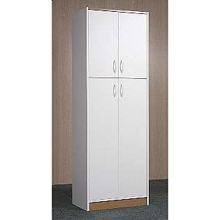 71H x 24W x 14D 4 Door Oak Pantry   White  Orion For the Home