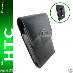 PREMIUM LEATHER POUCH CASE FOR MOST HTC PHONES COVER WITH BELT CLIP