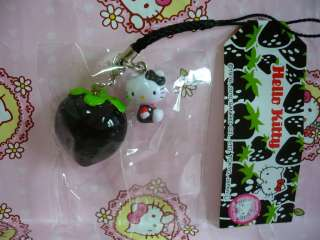 Sanrio Hello Kitty Japan Limited Black Strawberry Mobile Cell Phone