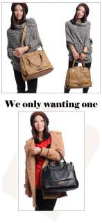 B900428 Luxury Ladys Genuine Leather Shoulder Bag Rivet Zipper Lined
