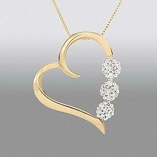 cttw Diamond Open Heart Pendant. Yellow Gold  Jewelry Diamonds