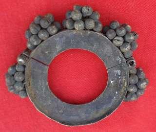 RARE ANCIENT ANTIQUE TRIBAL OLD METAL GAJRE BRACELET