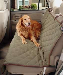 Deluxe soft quilted Bench Car pet Seat Cover Dogs Truck Auto van suv