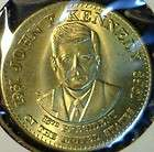 John F Kennedy JFK US MINT Commemorative Bronze Medal   Token   Coin
