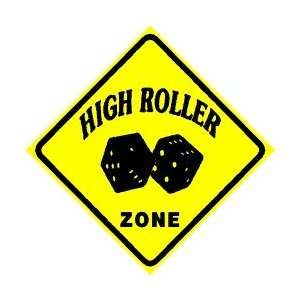 HIGH ROLLER ZONE gamble casino game sign