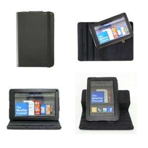 Black Kindle Fire Mat Pattern Leather Dual View 360