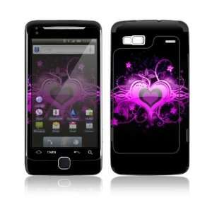 Glowing Love Heart Design Decorative Skin Cover Decal Sticker for HTC