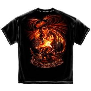 Firefighter T Shirt Fear No Evil Dragon