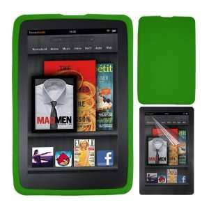 Premium  Kindle Fire Tablets 7 Clear Screen Protector + Green