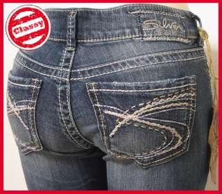 NEW SILVER JEANS Suki Capri Womens Jeans Sz 26 31 L9996SDA271 Z7341