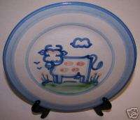 HADLEY PLATE COW HORSE DUCK ANIMALS ART SIGNED M A