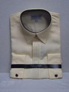MENS FANCY YELLOW DRESS SHIRT SIZE 17 17 1/2 NEW