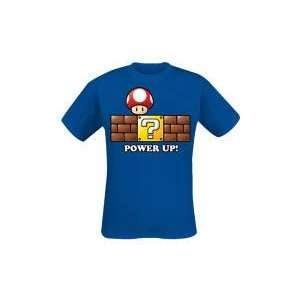 Merchandising   Super Mario Bros. T Shirt Power Up (XL) Toys & Games