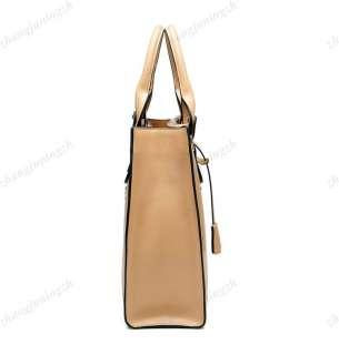 Leather Purse Shoulder Bag Handbag Tote Satchel Rivet Lock Fashion