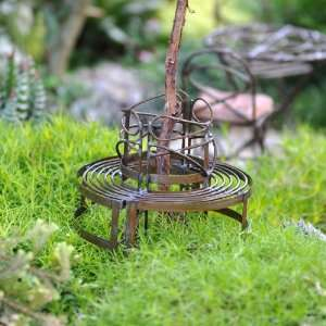 Mini Circular Benches Rustic Patio, Lawn & Garden