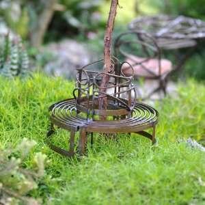 Mini Circular Benches Rustic Patio, Lawn & Garden