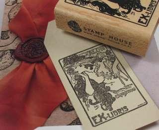 Decorative Stamps Art Nouveau Salon des Cent Rubber Stamp