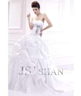 Strapless A Line Satin Train Ball Bridal Gown Wedding Dress,All Size