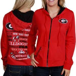 Georgia Bulldogs Ladies Red Picture Story Hoody (Large
