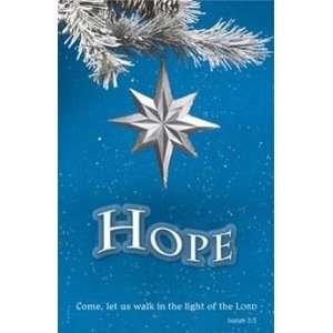 Church Bulletins (Advent week 1 of 4, CPH 84 0837 11 Standard Hope