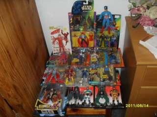 Men Batman Captain America Mego figure mixed lot
