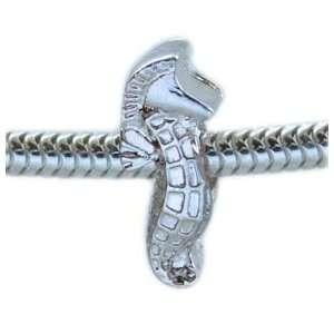 Seahorse Silver European Style Charm Bead Arts, Crafts