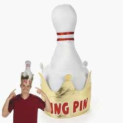 Plush Foam King Pin Crown Bowling Fun Party Hat 887600938632