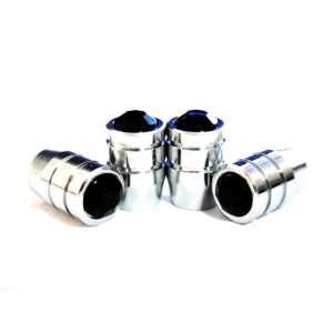 Crystal Diamond Rhinestone Metal Chrome Tire Rim Valve Stem Cap VC BKA