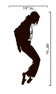 MICHAEL JACKSON Removable Vinyl Decal WALL STICKER Home Decor Art