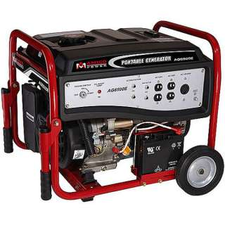 6000 Watt Portable Generator w/ Wheel Kit ~ Electric Start Gas Powered