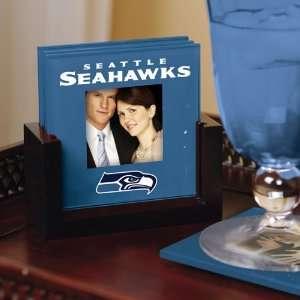 The Memory Company Seattle Seahawks Art Glass Coaster Set