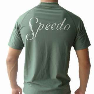 Speedo Swim & Surf Shirt Rash Guard Anti UV Green L