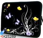 Butterfly Laptop Softcase Sleeve Neoprene Notebook Cover Pouch Bag