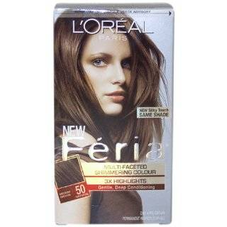 Loreal Feria Shimmering Hair Color   64 Creme Brulee (Golden Brown) 8